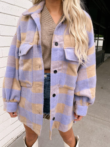 Totally Your Color Flannel Jacket