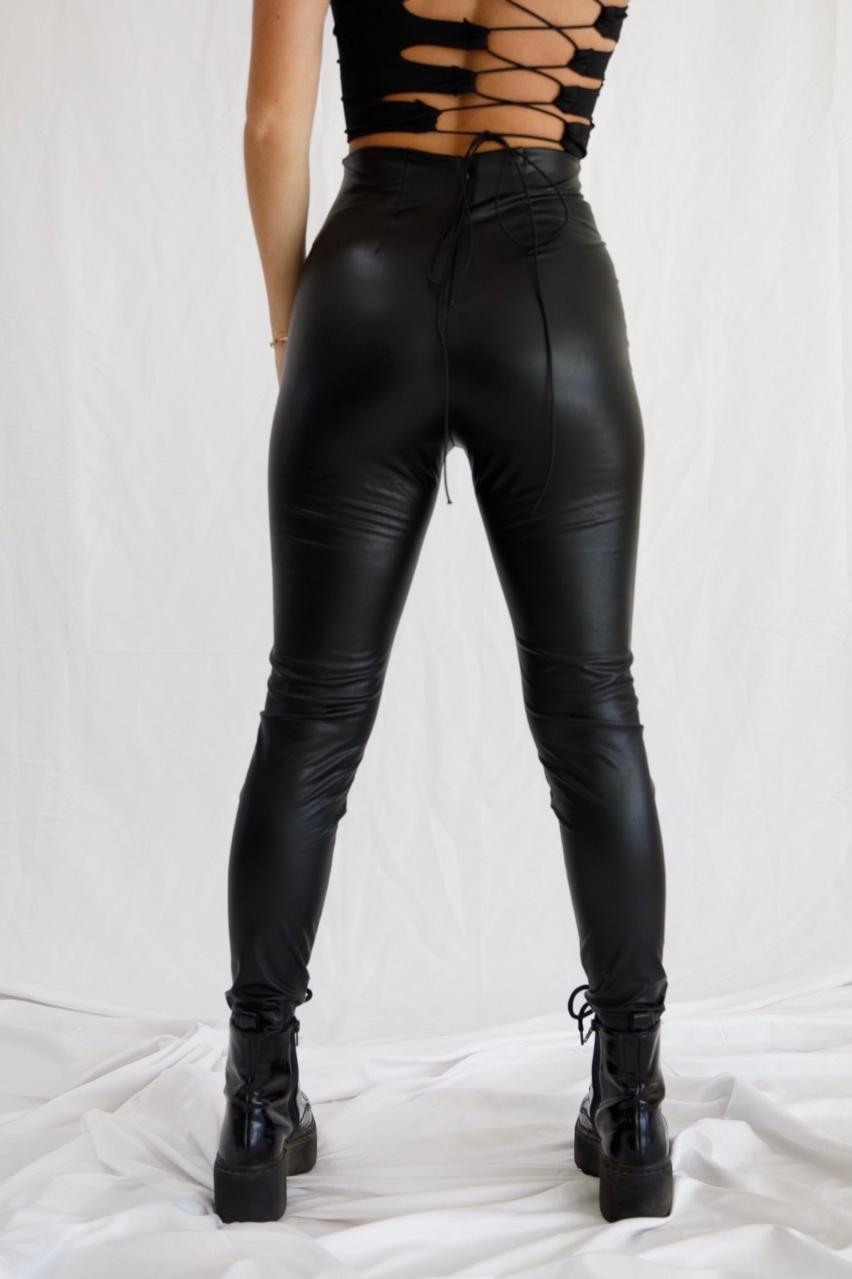 Go Getter Leather Leggings
