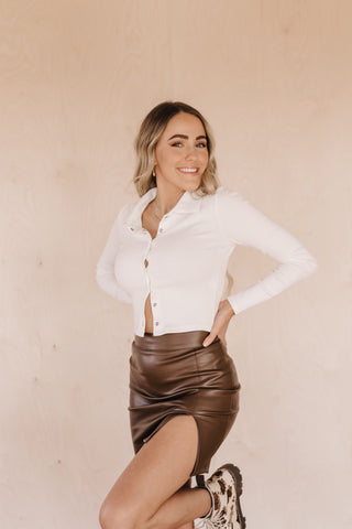 It's Leather Enough Skirt