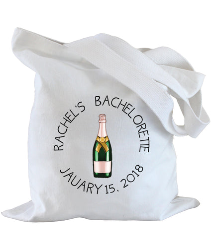 Personalized Bachelorette Tote Bag