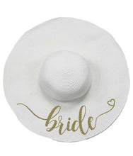 Load image into Gallery viewer, Bride Floppy Straw Hat