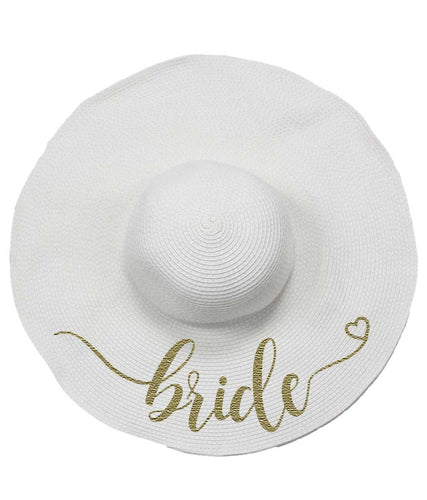 Bride Floppy Straw Hat