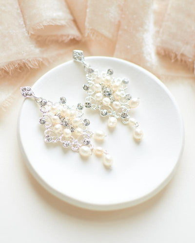 Courtney Pearl Chandelier Earrings