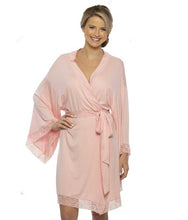 Load image into Gallery viewer, Kensington Jersey Lace Robe - Mint