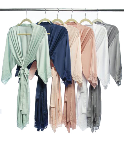 Mayfair Satin Lace Robe