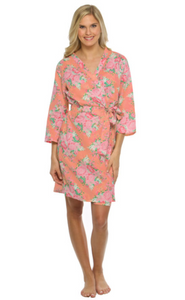 Chlesea Cotton Floral Robe