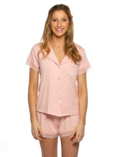 Load image into Gallery viewer, Kensington Jersey Lace PJ Set