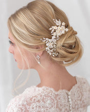 Load image into Gallery viewer, Ashley Ivory & Floral Hair Clip