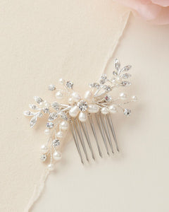 Susie Floral Freshwater Pearl Comb