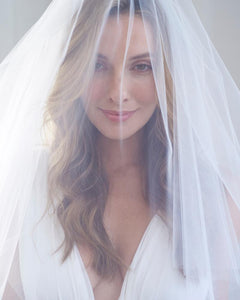 Blusher Cut Edge Veil