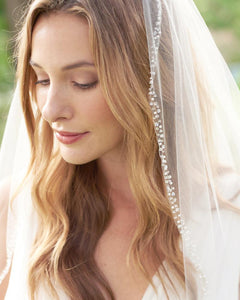 Pearl & Crystal Beaded Veil