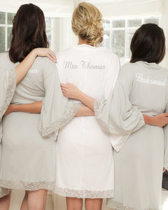 Kensington Jersey Lace Robe