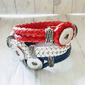 Red, White & Blue Leather Cord