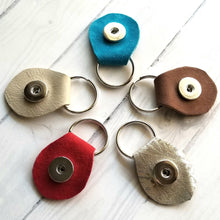 Load image into Gallery viewer, Hand-cut Leather Key Ring