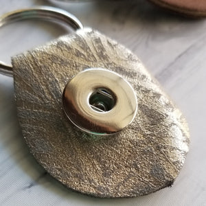 Hand-cut Leather Key Ring