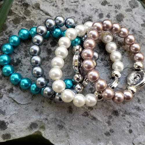 Pearlized Beaded Bracelets