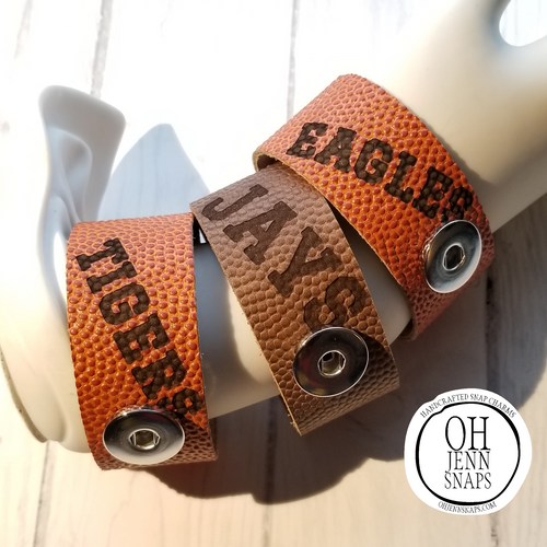 Mascot Etched Sports Cuffs