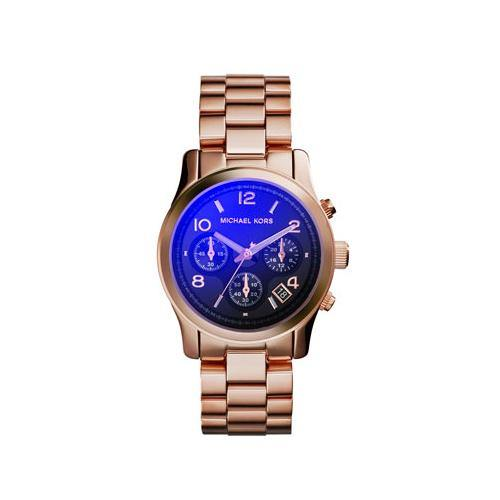 AMichael Kors Mid-Size Rose Golden Stainless Steel Runway Chronograph MK5940 Woman's Watch