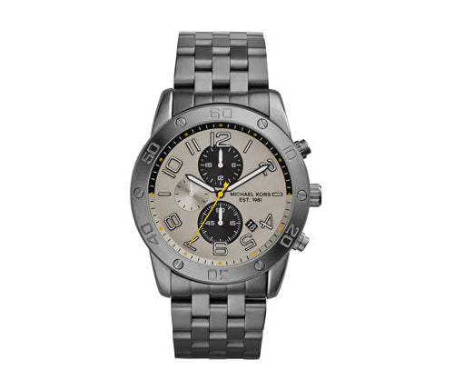 Michael Kors Men's Gunmetal Stainless Steel Mercer Chronograph MK8349 Men's Watch