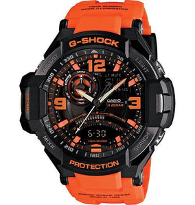 Casio Men's GA1000-1A G-Shock Aviation Twin Sensor Black Watch