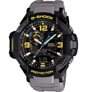 Casio Men's GA1000-4A G-Shock Aviation Twin Sensor Orange Watch