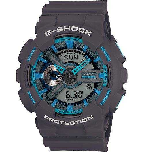 Casio Men's GA110TS-1A4 G-Shock X-Large Skeleton Neon Accent Black Orange Watch