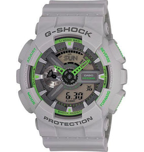 Casio Men's GA110TS-8A2 G-Shock X-Large Skeleton Neon Accent Gray Blue Watch