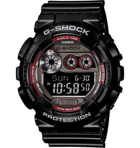 Casio Men's GD100BW-1 G-Shock X-Large Digital Reverse LCD Black on Black Watch