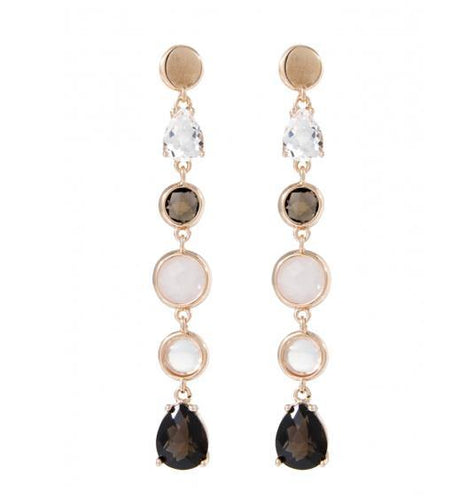 Earrings with Two Baguette Cut Stones
