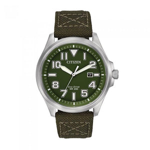 Citizen Men's AW1410-16X Military Army Green Watch