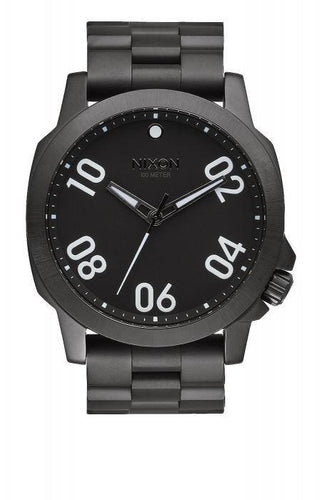 Nixon Mens Watch The Sentry Chrono Polished Gunmetal Lum