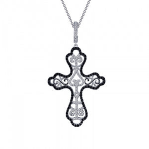 Ornate Cross Pendant Necklace