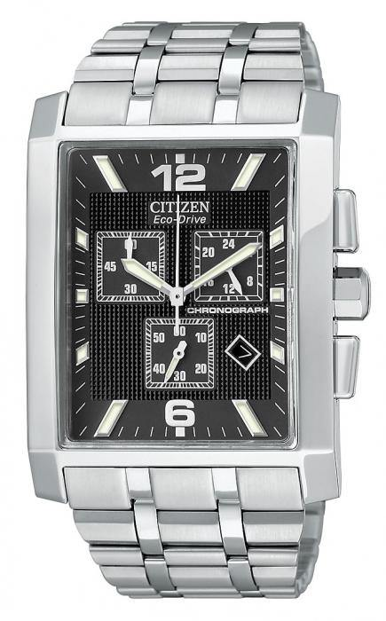 Citizen Men's AT0910-51E Eco-Drive Largo Stainless Steel Black Dial Watch