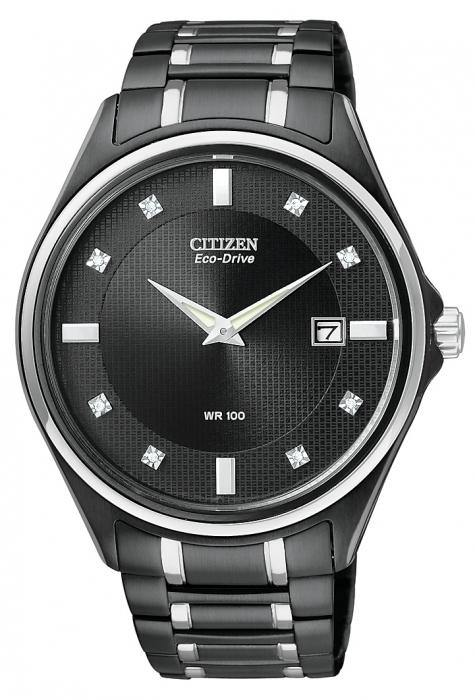 Citizen Men's AU1054-54G Diamond Eco Drive Watch