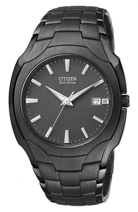 Citizen Men's BM6015-51E Eco-Drive Black Plated Stainless Steel Black Dial Watch