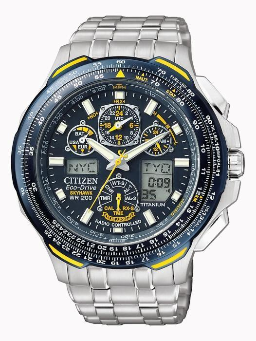 Citizen Men's JY0050-55L Eco-Drive Blue Angels Skyhawk A-T Chronograph Titanium Watch