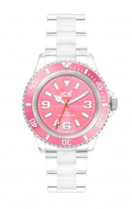 Ice-Watch Unisex Classic Clear Pink Chronograph Watch-Clear Bracelet-Pink Dial-CLPKUP09
