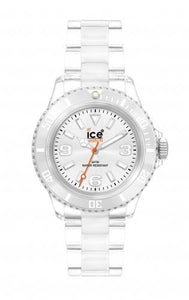 Ice-Watch Unisex Classic Clear Silver Chronograph Watch-Clear Bracelet-Silver Dial-CLSRUP09