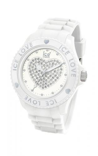 Ice-Watch Unisex Love White Chronograph Watch-White Band-Crystal Dial-LOWEUS10