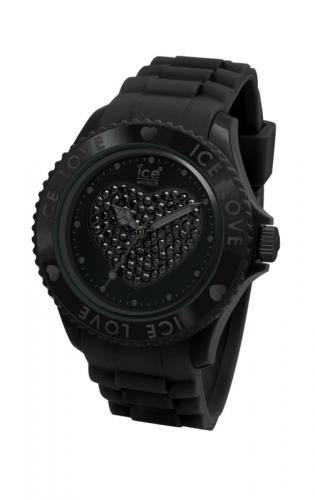 Ice-Watch Unisex Love Black Chronograph Watch-Black Band-Crystal Dial-LOBKUS10