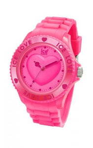 Ice-Watch Unisex Love Pink Chronograph Watch-Pink Band-Crystal Dial-LOPKUS10