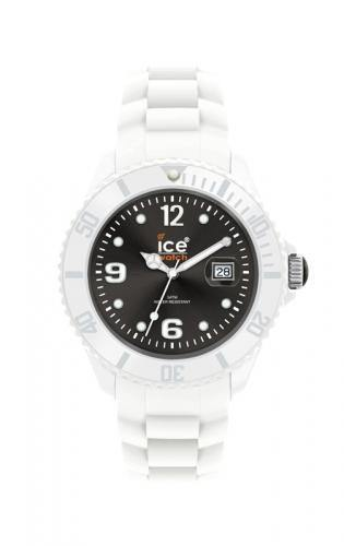 Ice-Watch Unisex White White Chronograph Watch-White Band-Black Sunray Dial-SIWKUS10