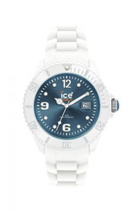 Ice-Watch Unisex White Jeans Chronograph Watch-White Band-Jeans Sunray Dial-SIWJUS10