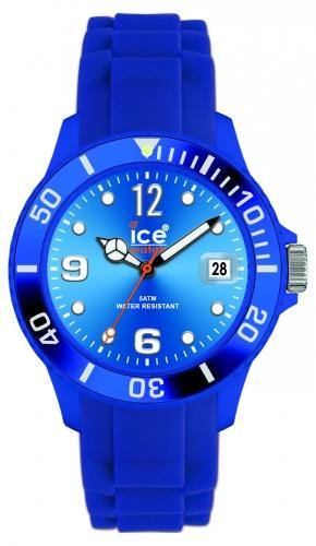 Ice-Watch Unisex Sili Forever Blue Chronograph Watch-Blue Band-Blue Sunray Dial-SIBESS09
