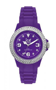 Ice-Watch Unisex Stone Sili Purple Silver Chronograph Watch-Purple Band-Purple Dial-STPSDUS10