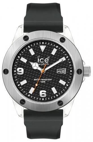 Ice-Watch Unisex XXL Carbon Chronograph Watch-Black Band-Carbon Dial-XXSRXXS09