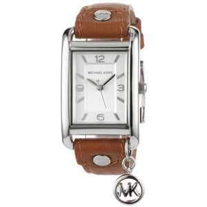 Michael Kors Ladies Brown Leather Strap Watch MK2165