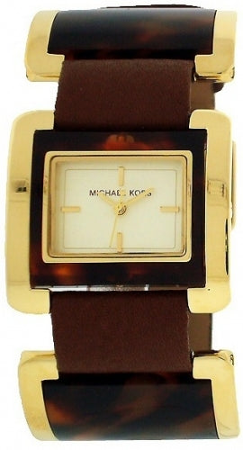 Michael Kors Leather Gold-Tone Dial Women's Watch #MK2219