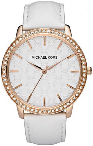 Michael Kors Gold-plated White Dial Ladies Watch MK2223