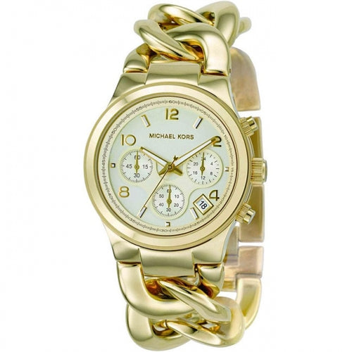 Michael Kors Chronograph Gold-tone Women's MK3131 Bracelet Watch